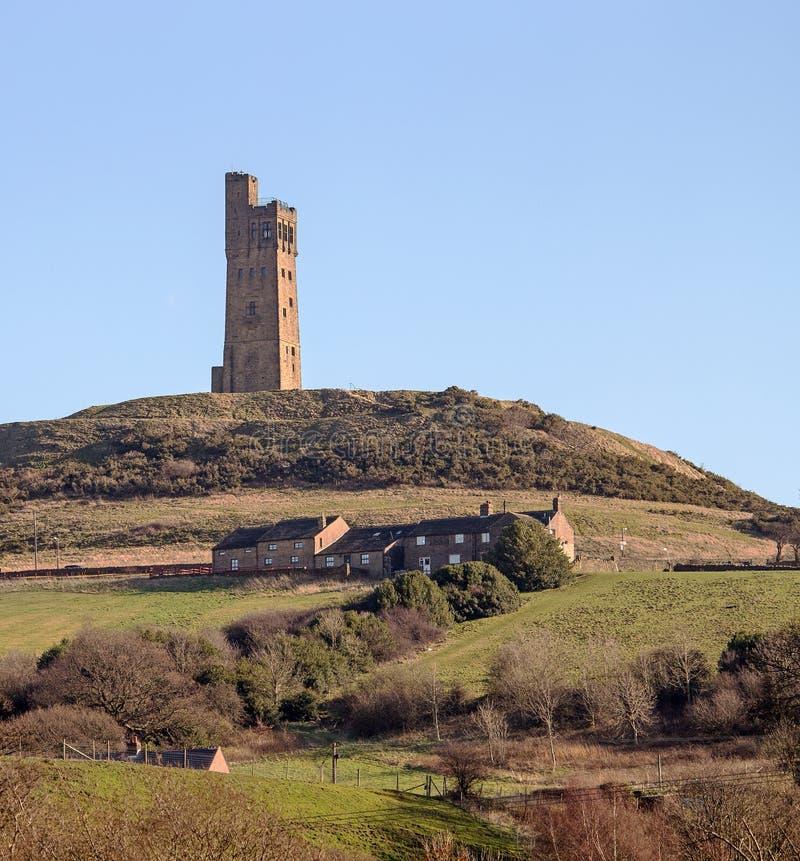 维多利亚城堡,城堡小山哈德斯菲尔德,约克夏,英国 免版税库存照片
