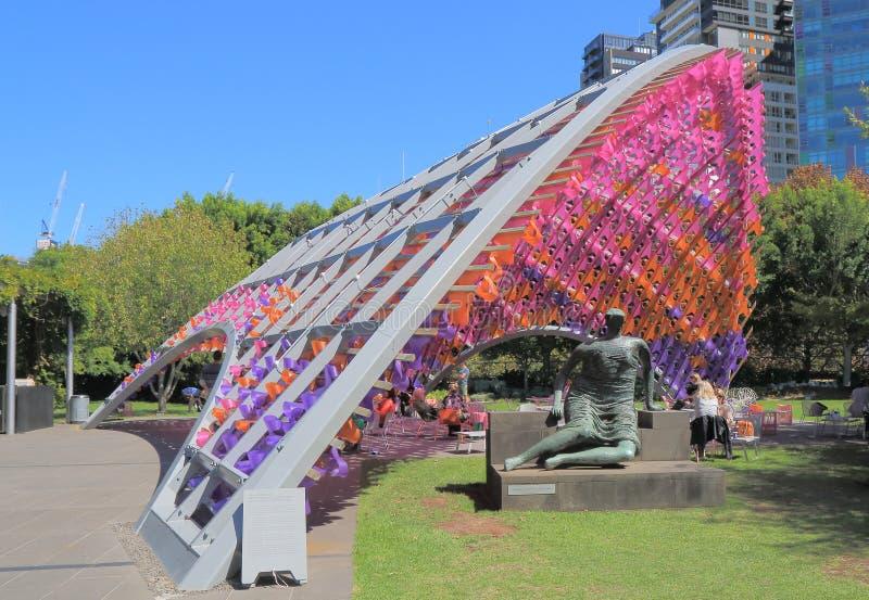 维多利亚墨尔本澳大利亚国家肖像馆  免版税库存照片