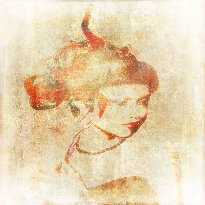 维多利亚女王时代的妇女纸 向量例证