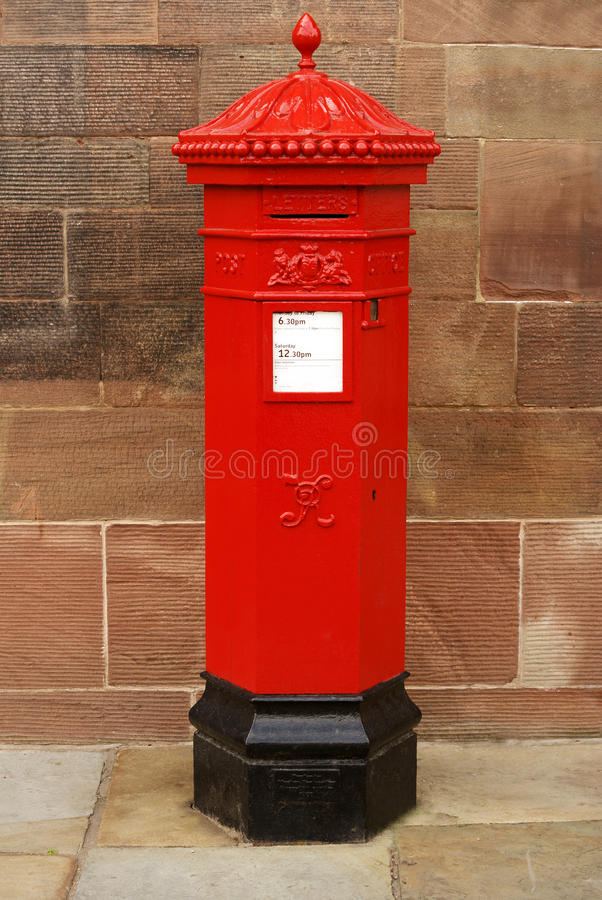 维多利亚女王时代的岗位箱子 免版税库存图片