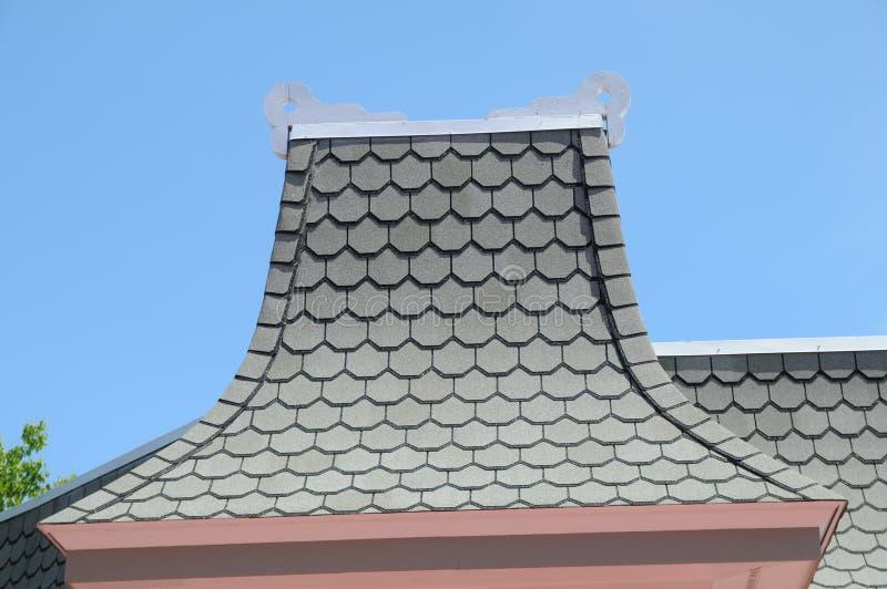 维多利亚女王时代的样式屋顶peakl在Mackinaw密执安 免版税图库摄影