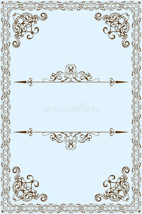 维多利亚女王时代的框架 库存例证