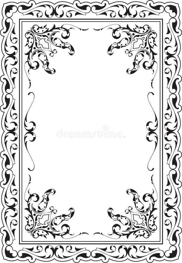 维多利亚女王时代的纸卷艺术框架 向量例证