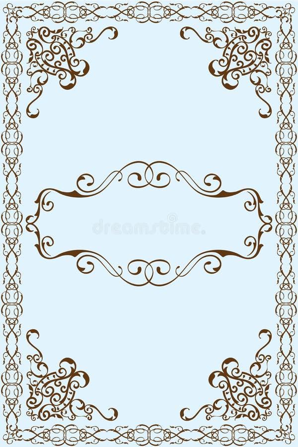 维多利亚女王时代的艺术框架 皇族释放例证