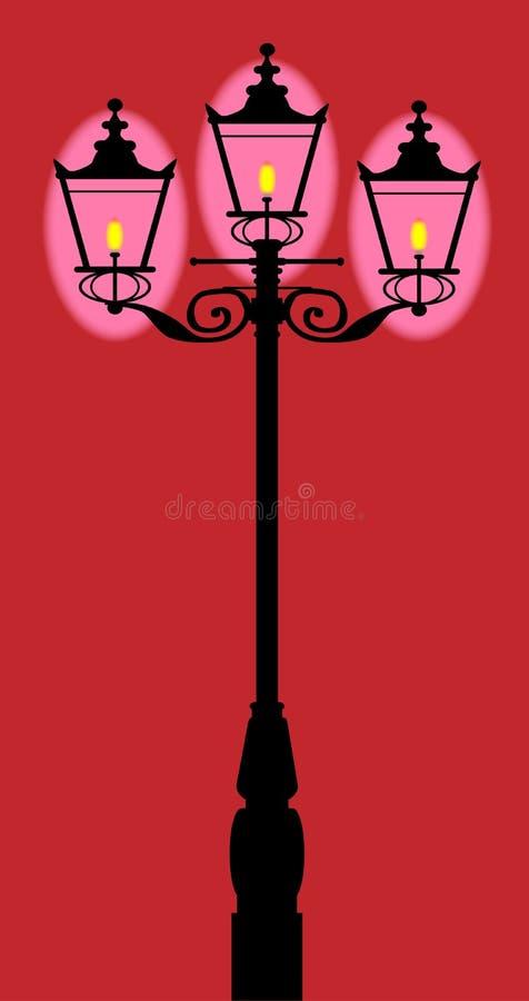 维多利亚女王时代的街灯 向量例证