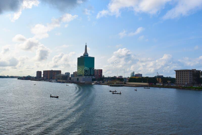 维多利亚岛,拉各斯,尼日利亚 免版税库存照片