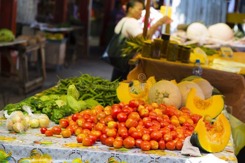 维多利亚市场, Mahe,塞舌尔群岛 库存图片