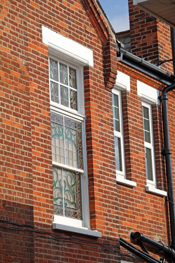 维多利亚时代建筑窗口 库存图片