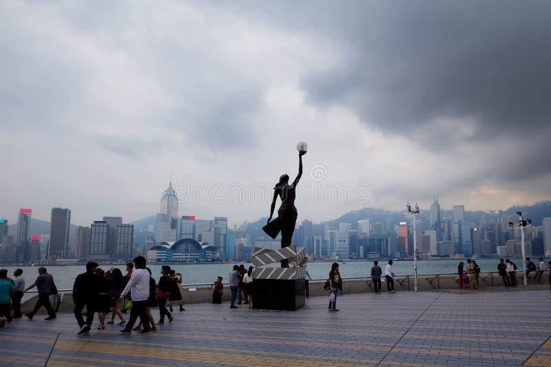 维多利亚港湾在香港 图库摄影