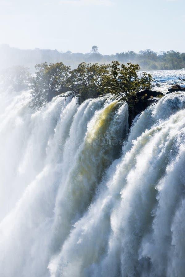 维多利亚瀑布的接近的看法 图库摄影