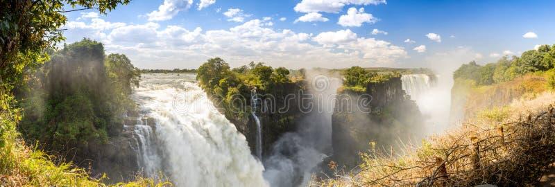 维多利亚瀑布非洲全景 库存图片
