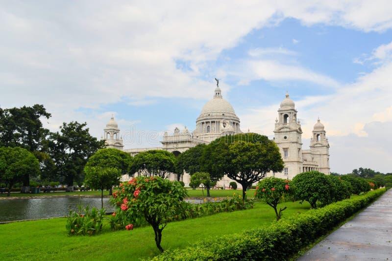 维多利亚纪念品在加尔各答印度 免版税库存图片