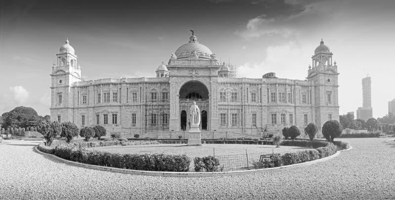 维多利亚纪念品,加尔各答的全景图象 免版税库存照片