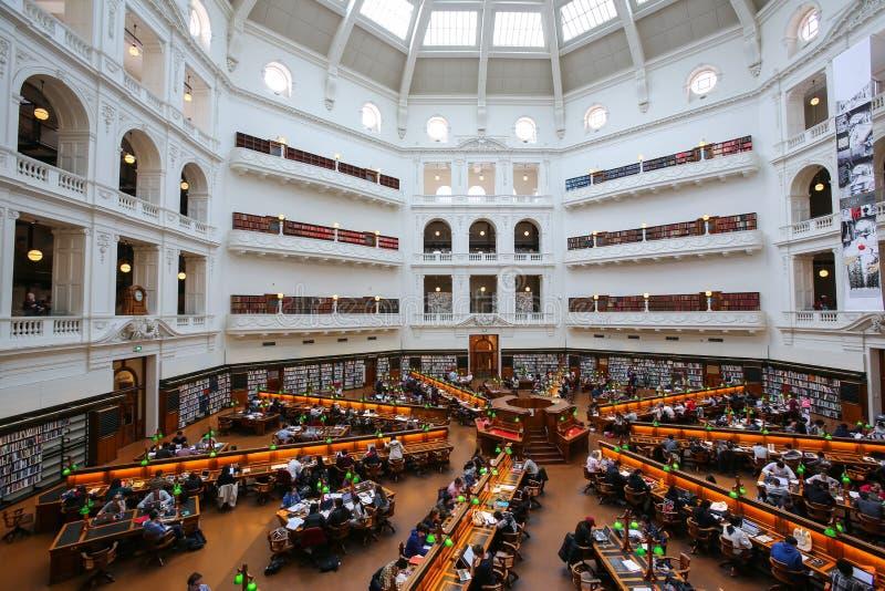 维多利亚,墨尔本州立图书馆  免版税图库摄影