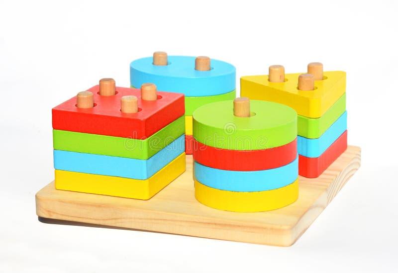 多功能玩具montessori材料 蒙台梭利学会&儿童教育的教育方法 蒙台梭利玩具 免版税库存图片