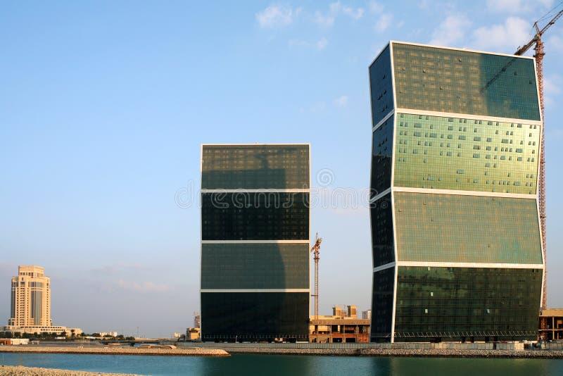 多哈卡塔尔塔之字形之字形 免版税库存图片