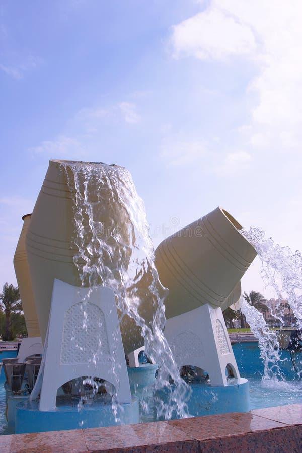 多哈喷泉 图库摄影