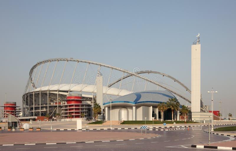 多哈国际khalifa体育场 图库摄影