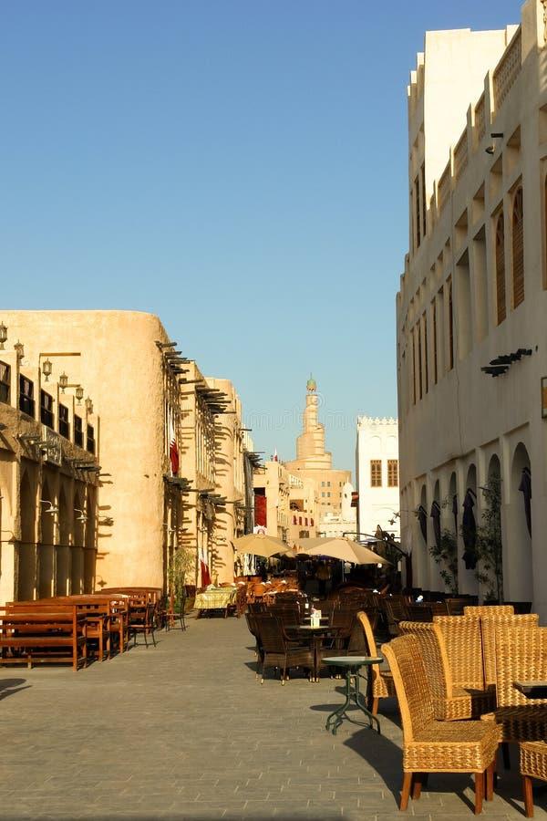 多哈老卡塔尔souk 免版税库存图片