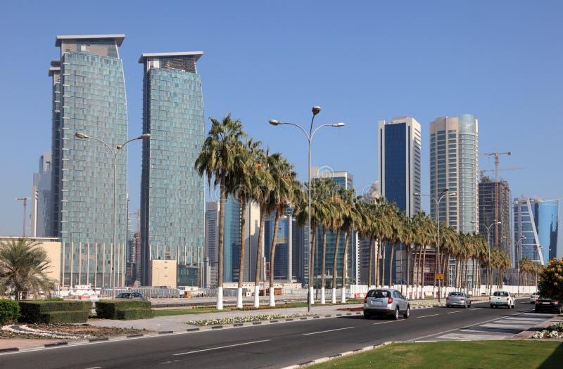 多哈街市卡塔尔 库存图片