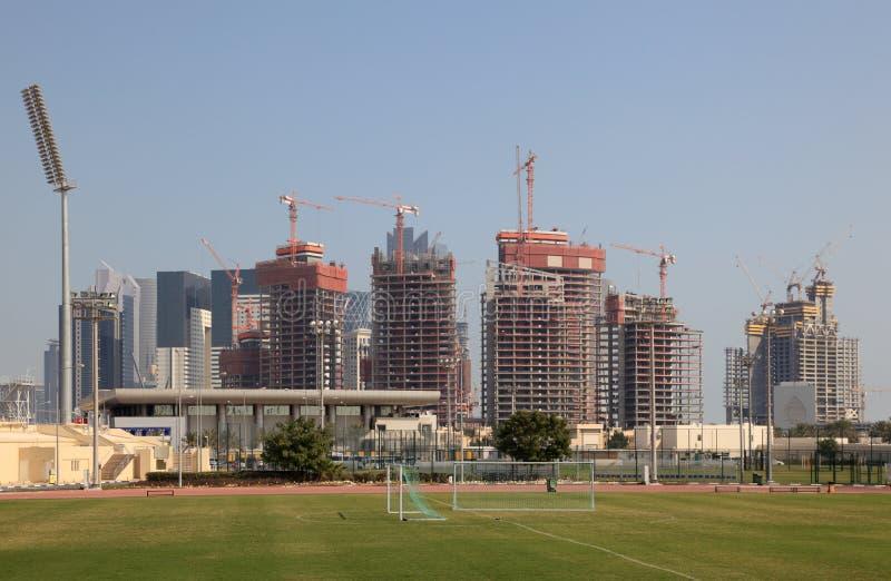 多哈街市卡塔尔 库存照片