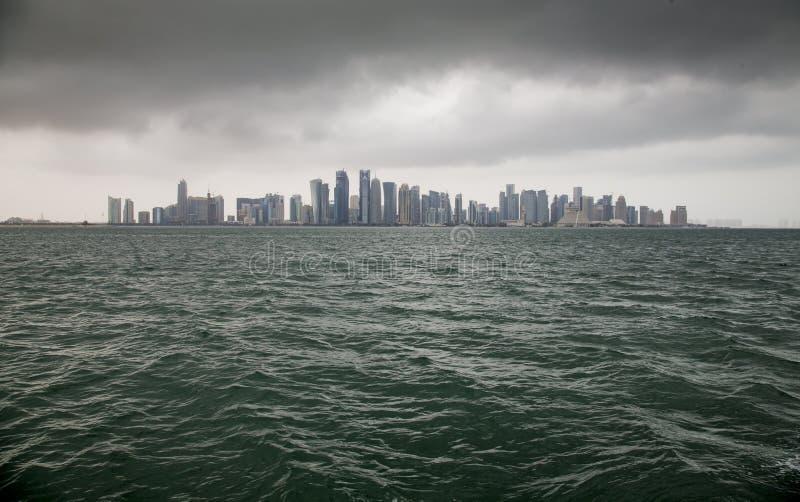 多哈,卡塔尔都市风景  库存照片