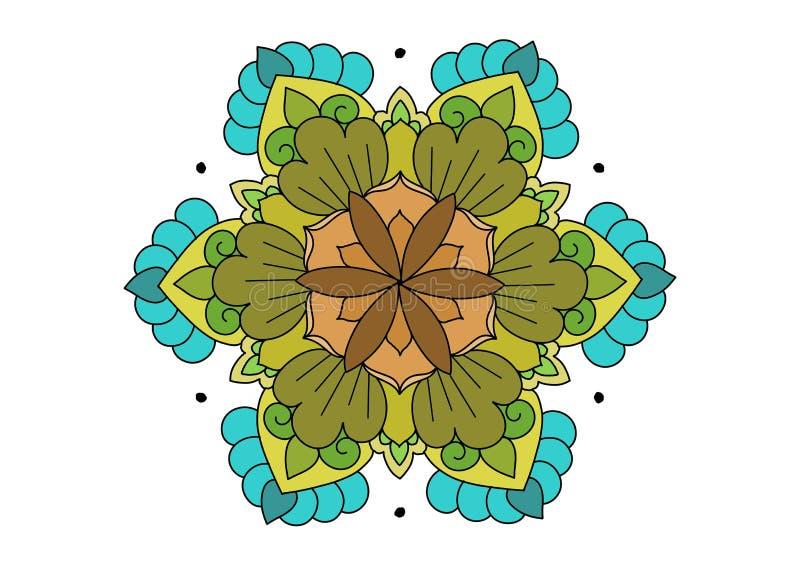 多在白色背景的颜色花卉设计 皇族释放例证