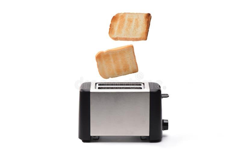 多士炉用面包 免版税库存图片