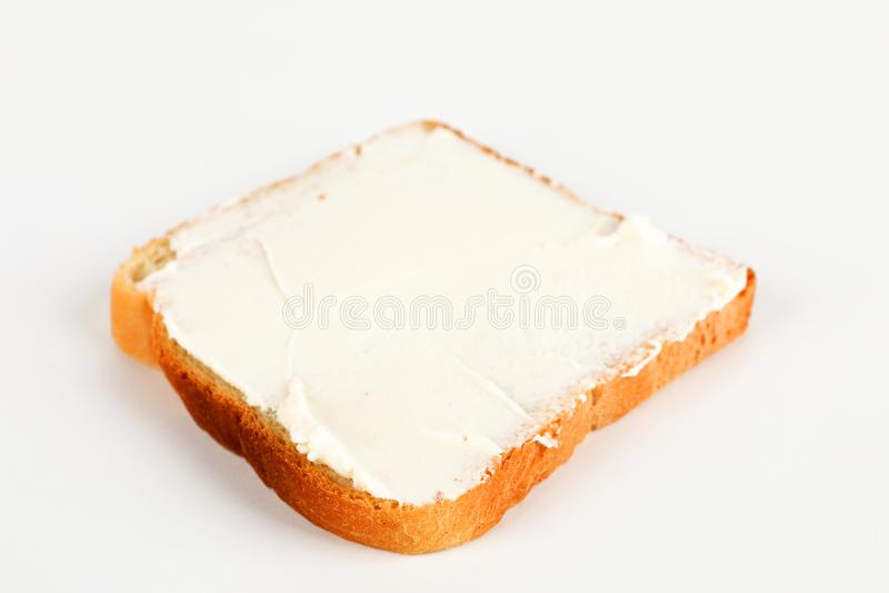 多士用乳脂干酪 库存照片
