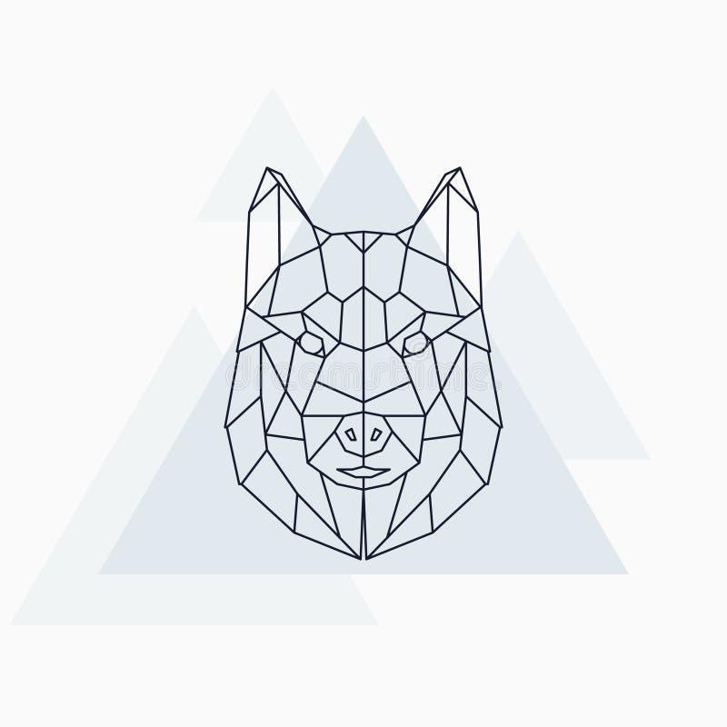 多壳的狗 抽象几何动物 皇族释放例证