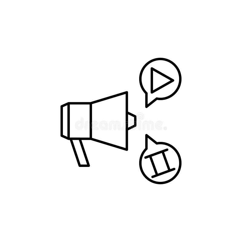 多媒体公告象 录影产品概述象的元素流动概念和网应用程序的 稀薄的线多媒体 皇族释放例证