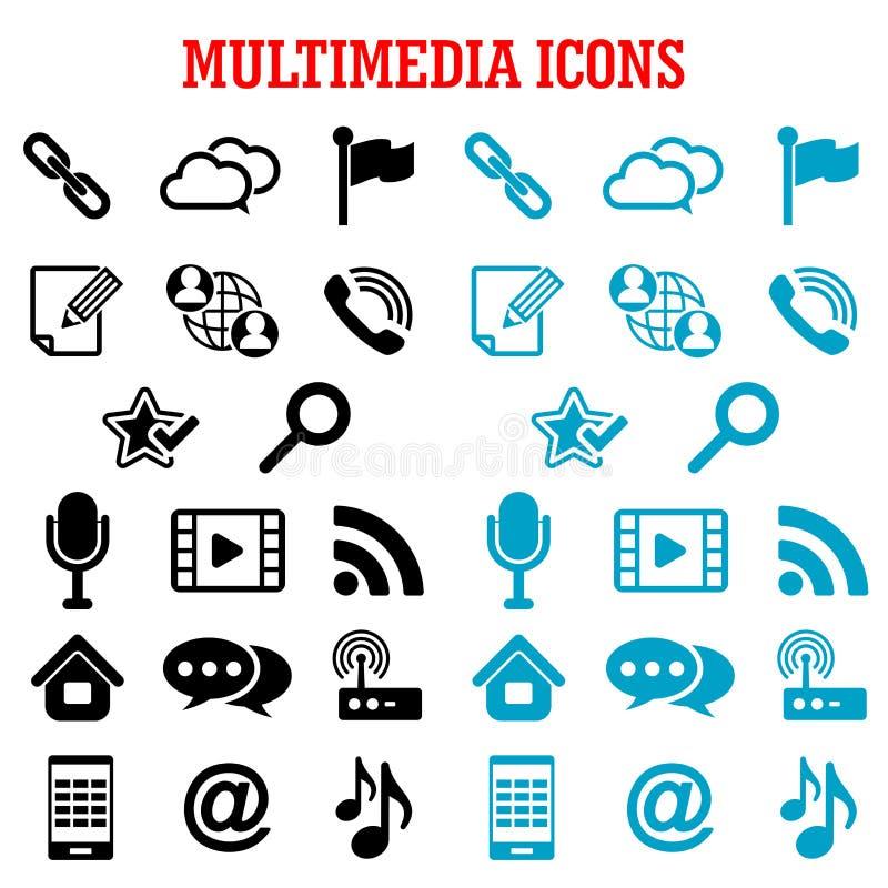多媒体和通信平的象 向量例证