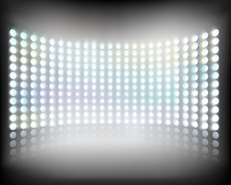 多媒体屏幕 也corel凹道例证向量 库存例证