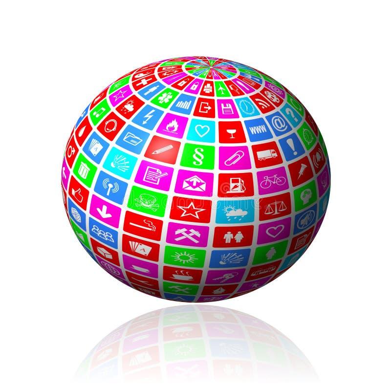 多媒体球形 向量例证