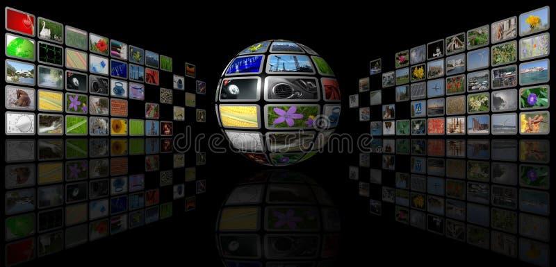 多媒体球形 库存例证