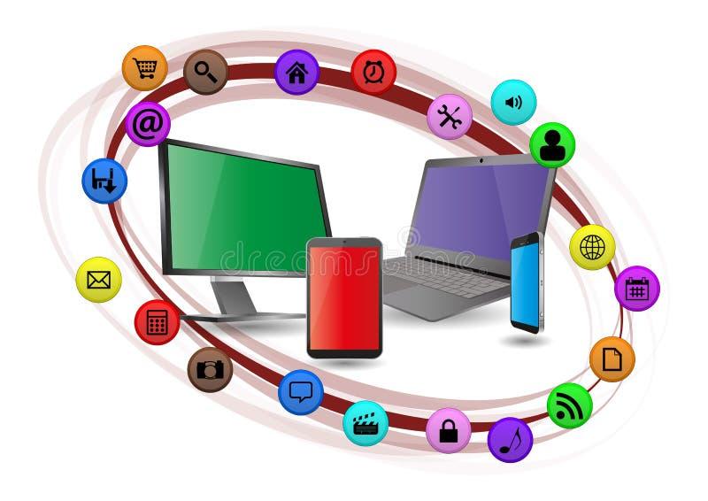 多媒体设备 库存例证