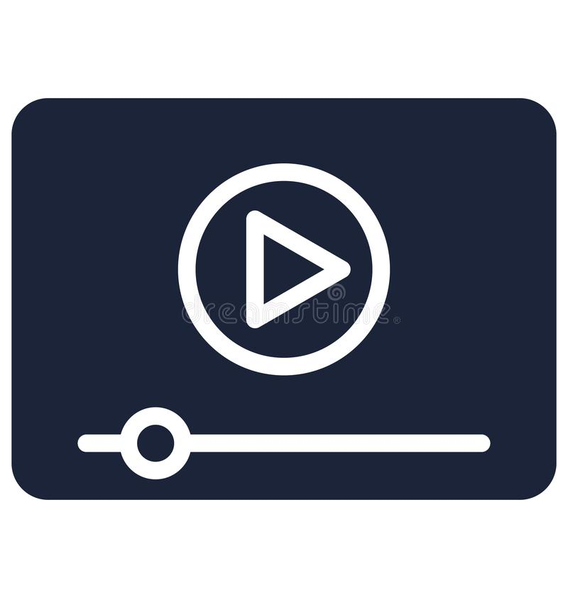 多媒体隔绝了可能容易地修改或编辑的传染媒介象 库存例证