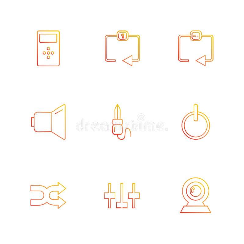 多媒体,戏剧,停留,容量,声音,话筒, eps集成电路 向量例证
