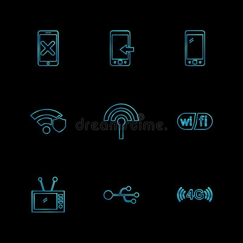 多媒体,报告人,容量,耳机,话筒,网络, 库存例证