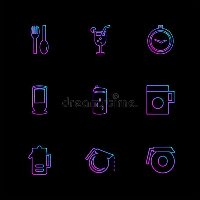 多媒体,照相机,用户界面,技术,夏天,博士 库存例证