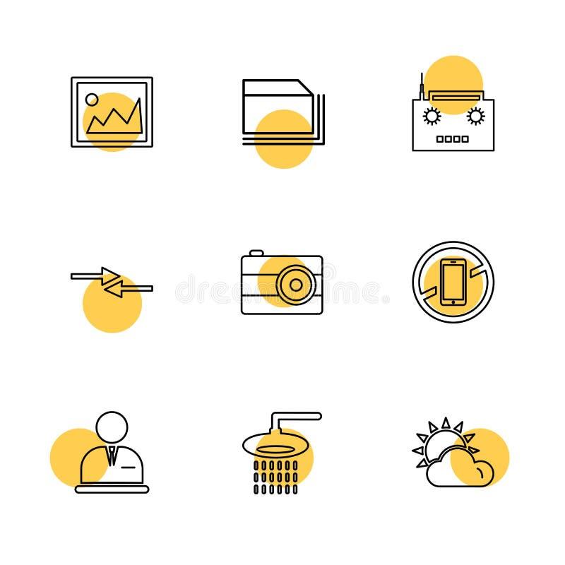 多媒体,照相机,用户界面,文件夹,目录, eps 向量例证