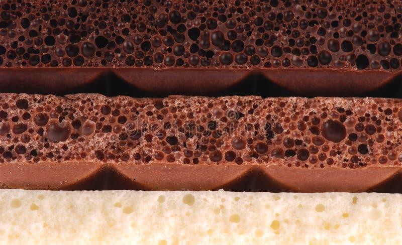 多孔巧克力 图库摄影