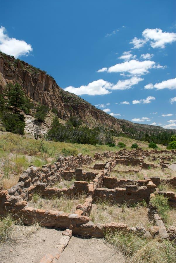多孔黏土墨西哥新的废墟 免版税图库摄影