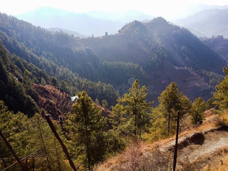多小山区域风景视图 图库摄影