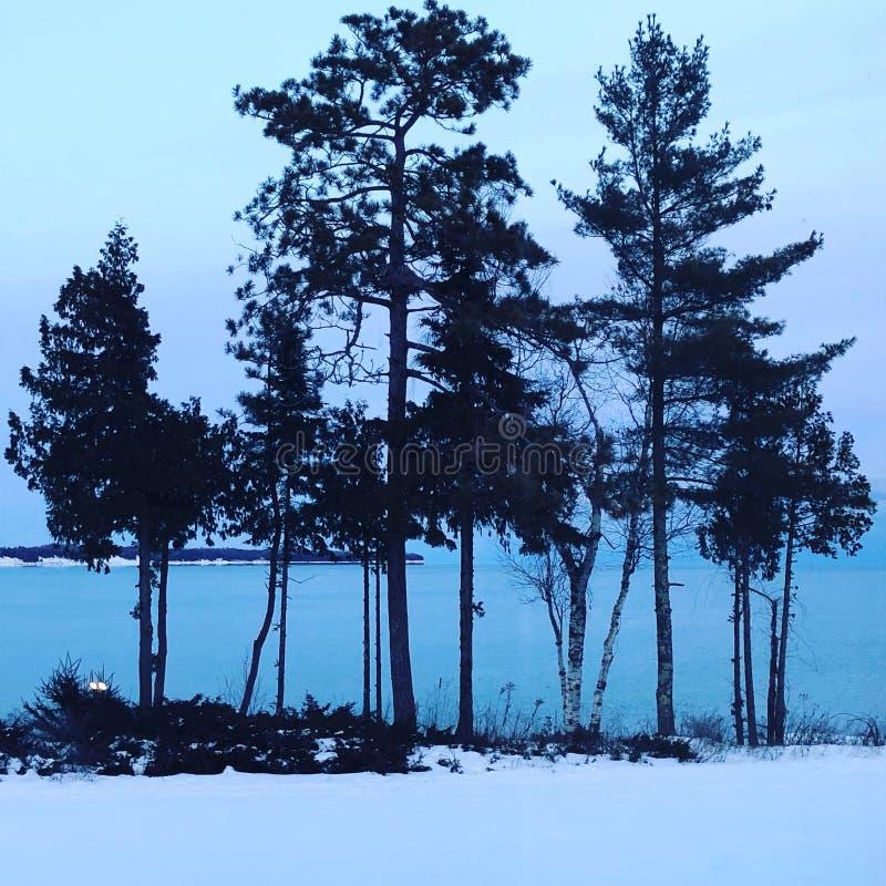 多尔县密歇根湖 库存图片