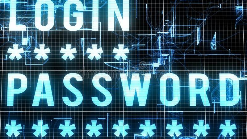 多层的注册密码图象 库存例证