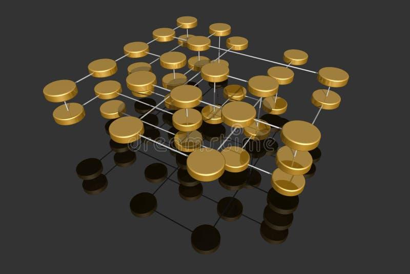 多层的网络 皇族释放例证