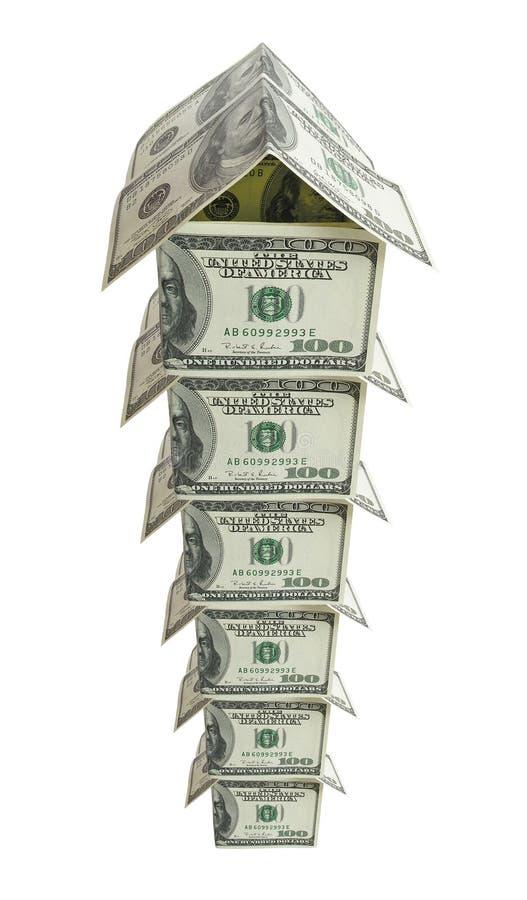 多层2美元的房子 库存照片