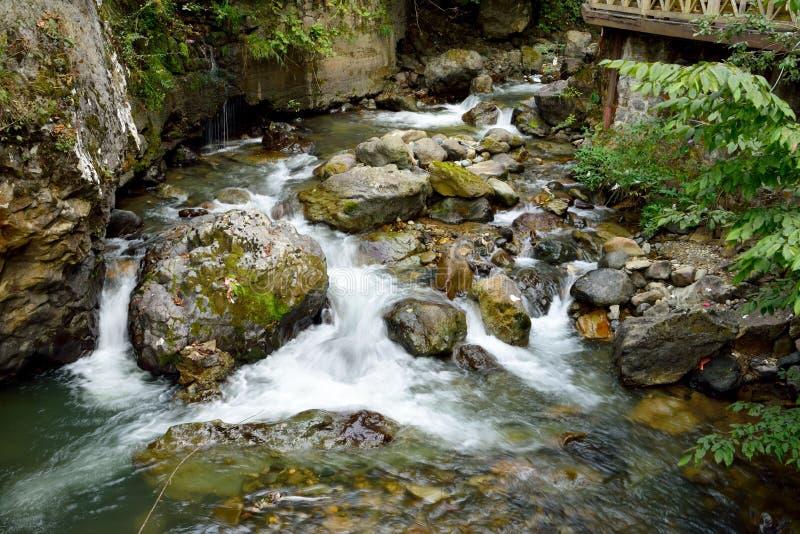 多山小河在土耳其 免版税库存图片