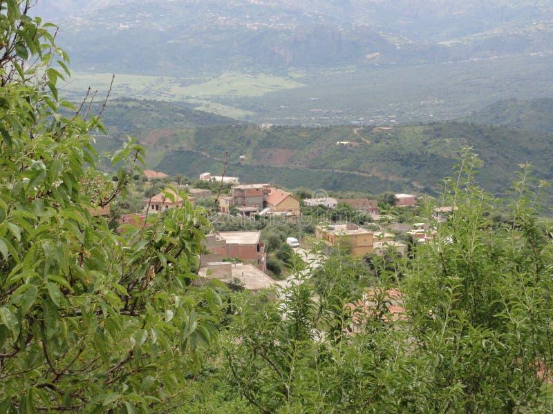 多山风景在Kabylia 库存图片